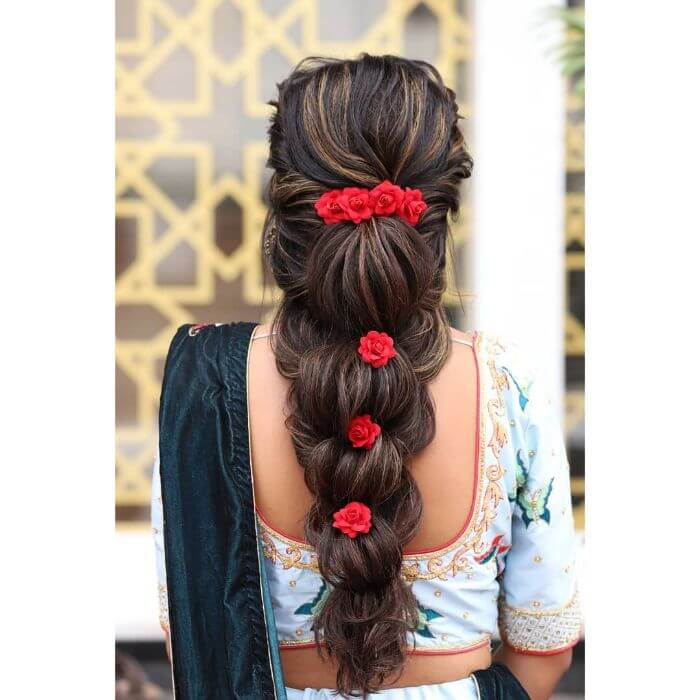 Simple & Stylish wedding hairstyle for long hair Indian Wedding Hairstyles for Long Hair