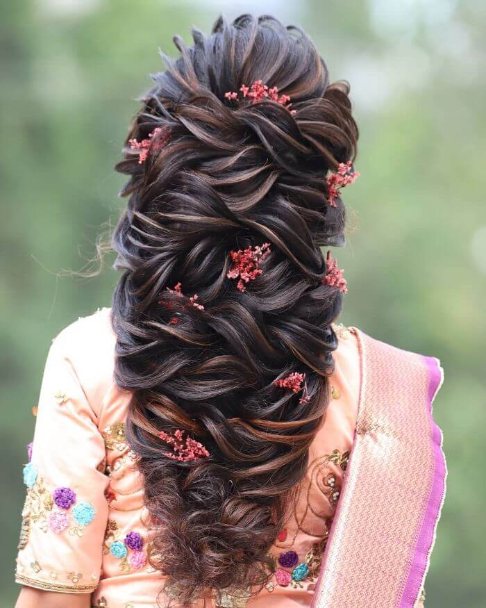 Massive Wedding Hairstyle for long hair Indian Wedding Hairstyles for Long Hair