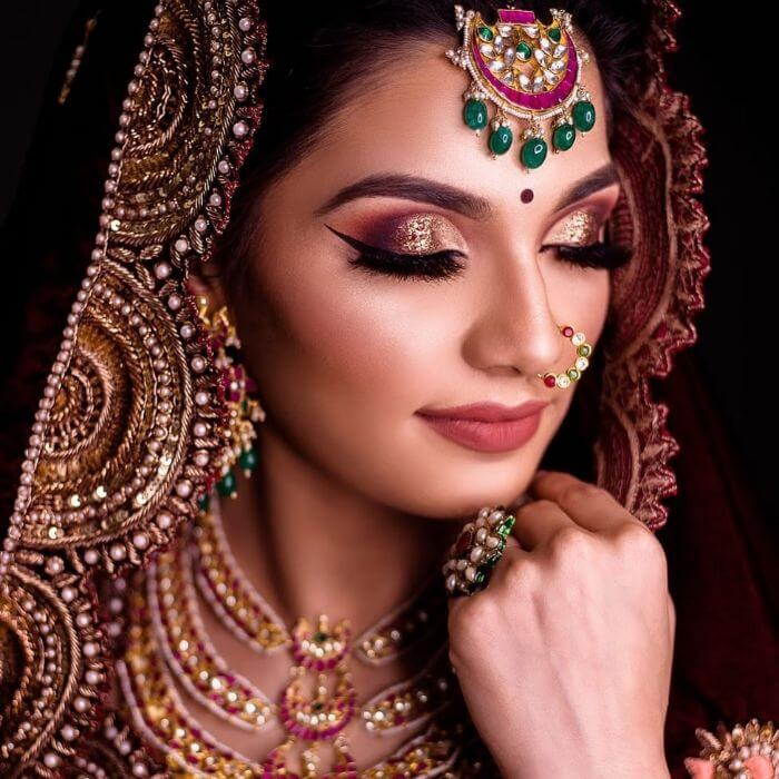 The glittery makeup look for newly married bride's sisters or bhabhis Indian Wedding Makeup Looks for Bride's Sister