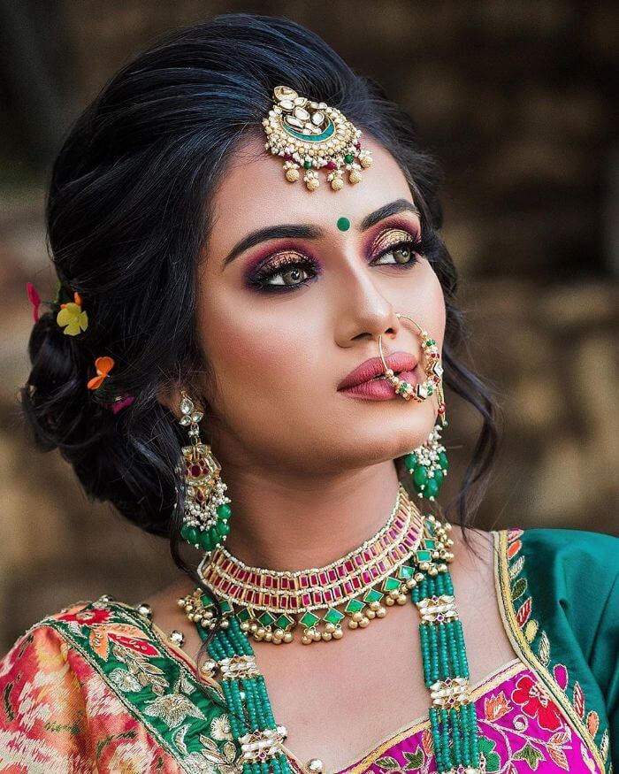 The dewy fresh makeup look for Indian wedding Indian Wedding Makeup Looks for Bride's Sister