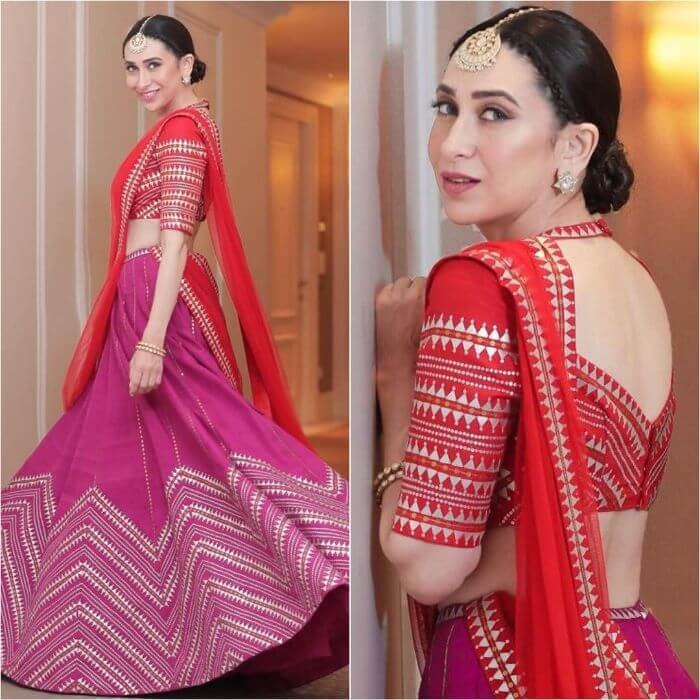 Karishma Kapoor in Temple style latest lehenga design