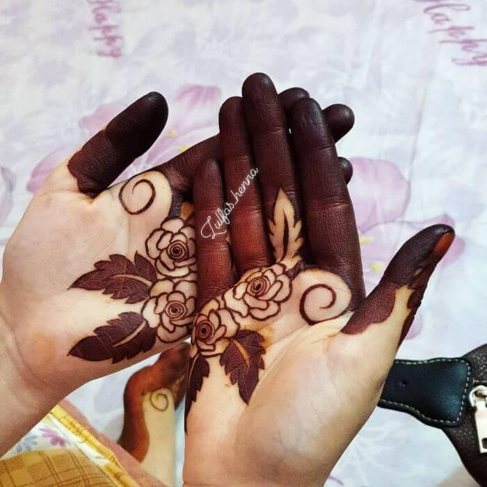 Upper handstylish rose mehndi Beautiful Floral Mehndi Designs for Hands
