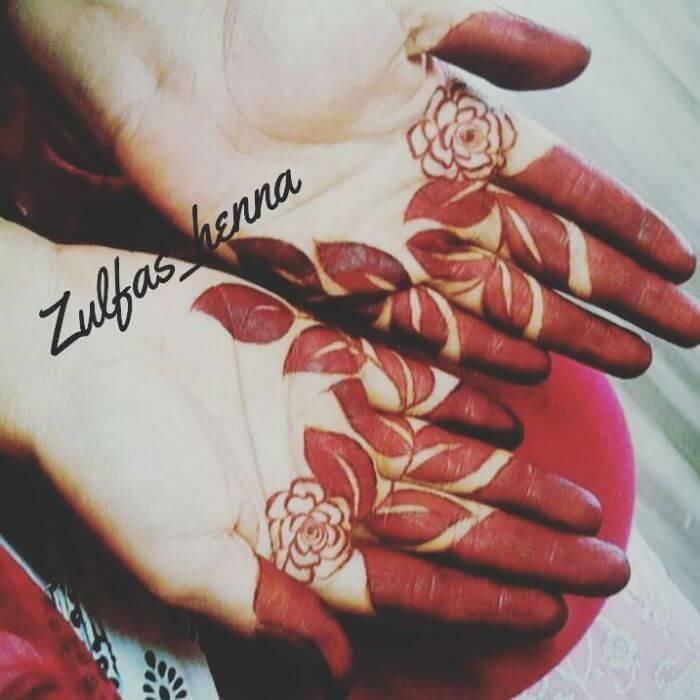 Roses & foliagestylish mehndi design for hands Beautiful Floral Mehndi Designs for Hands