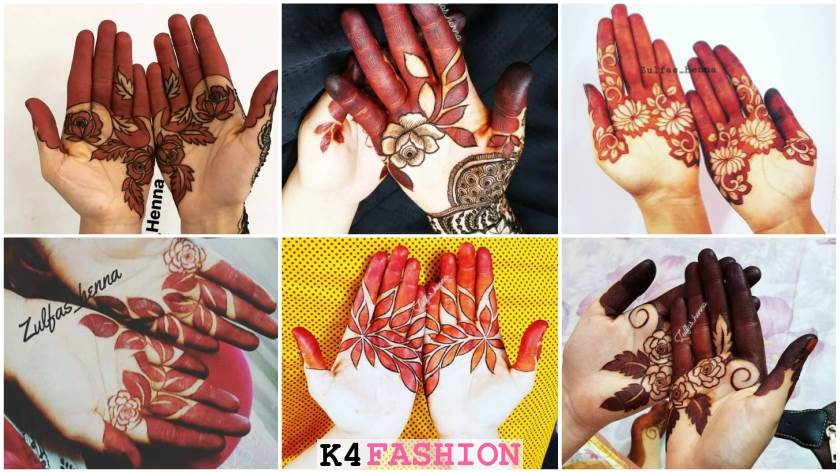 flower stylish mehndi design for hands