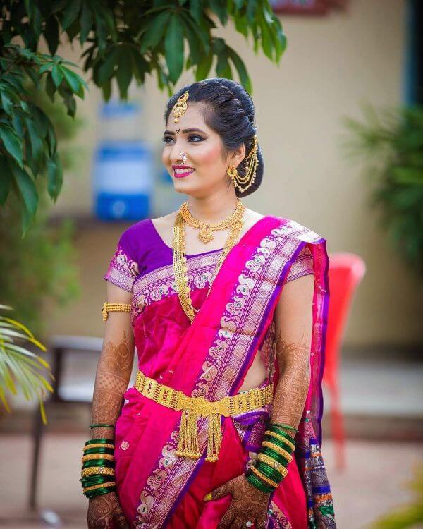 The beautiful look for marathi brides Marathi Bridal Look in Traditional Saree