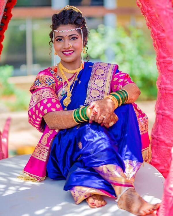 Maharashtrian bridal look in traditional saree Marathi Bridal Look in Traditional Saree