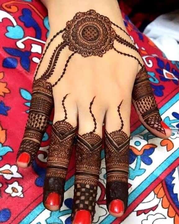 Trending mehndi design for back hand Stylish Pakistani Mehndi Designs for Hands