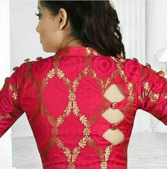 Red Blouse Back Neck Designs for silk saree Stylish Blouse Back Neck Designs for Modern Look