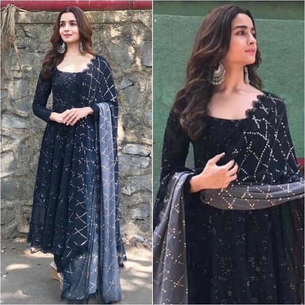 Alia Bhatt in black suit