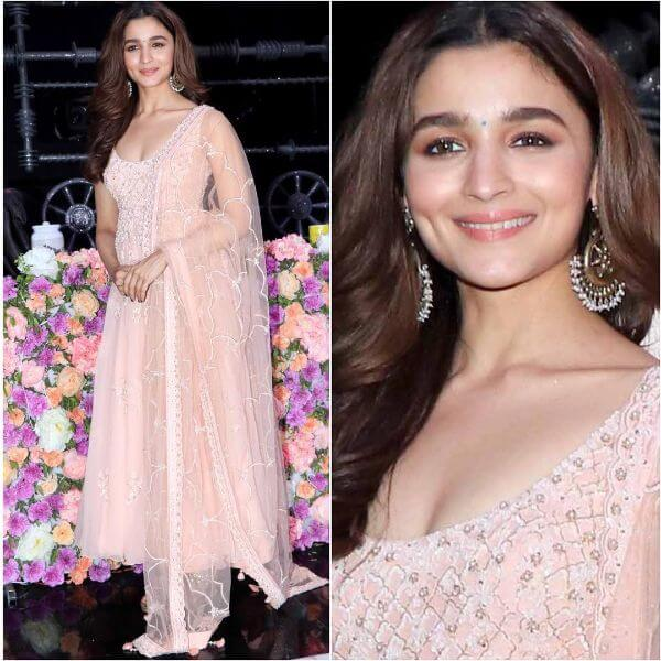 Alia Bhatt in peachy pink salwar suit