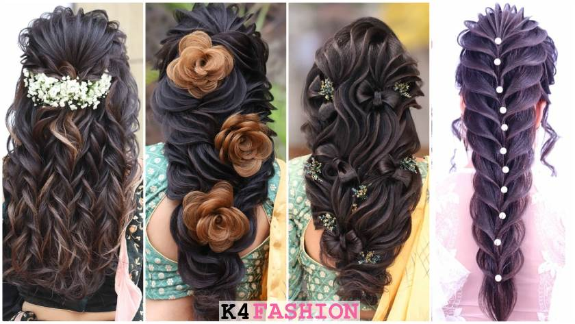 Indian Wedding Hairstyles for Long Hair - K4 Fashion