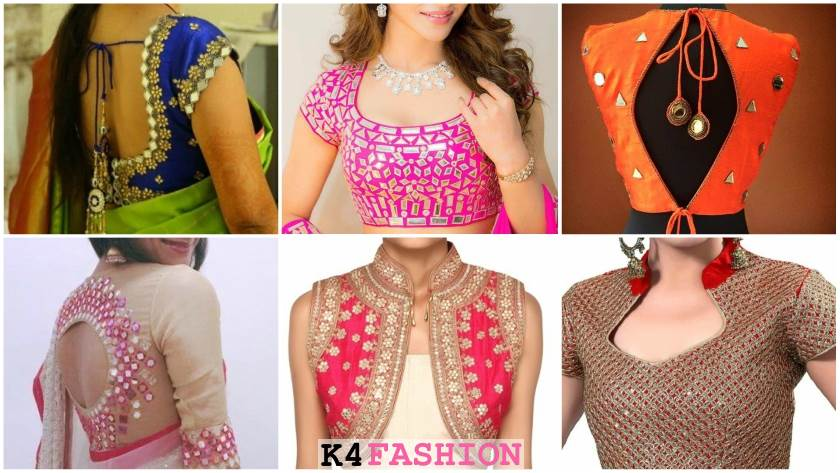 Trending Mirror Work Blouse Designs for Wedding Party