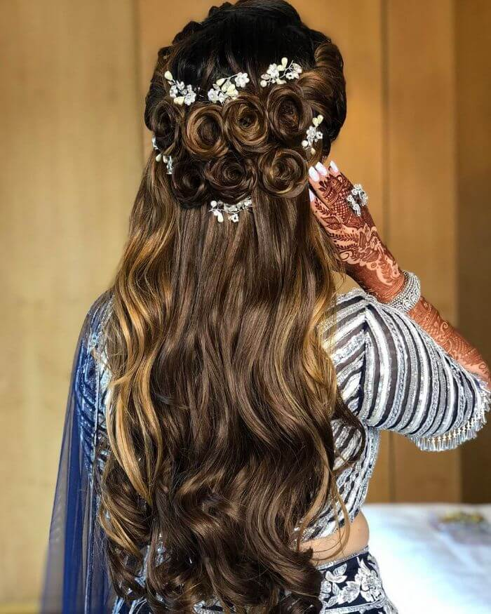 Beautiful rose knotted Hairstyles for Long Hair Trendy Hairstyles for Long Hair | Wedding Special