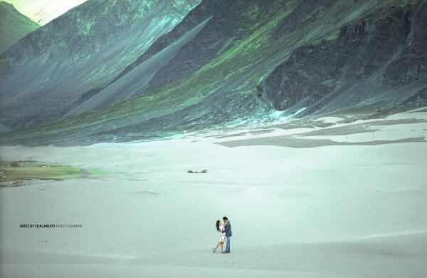 nature mountain Unique Pre-Wedding Photoshoot Ideas