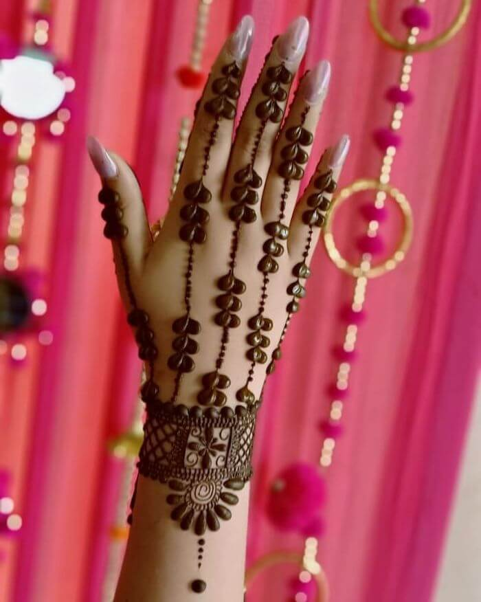 jewellery mehndi design for Teej festival celebrations