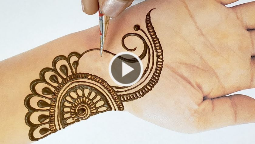 Easy Arabic Mehendi Design for Hand