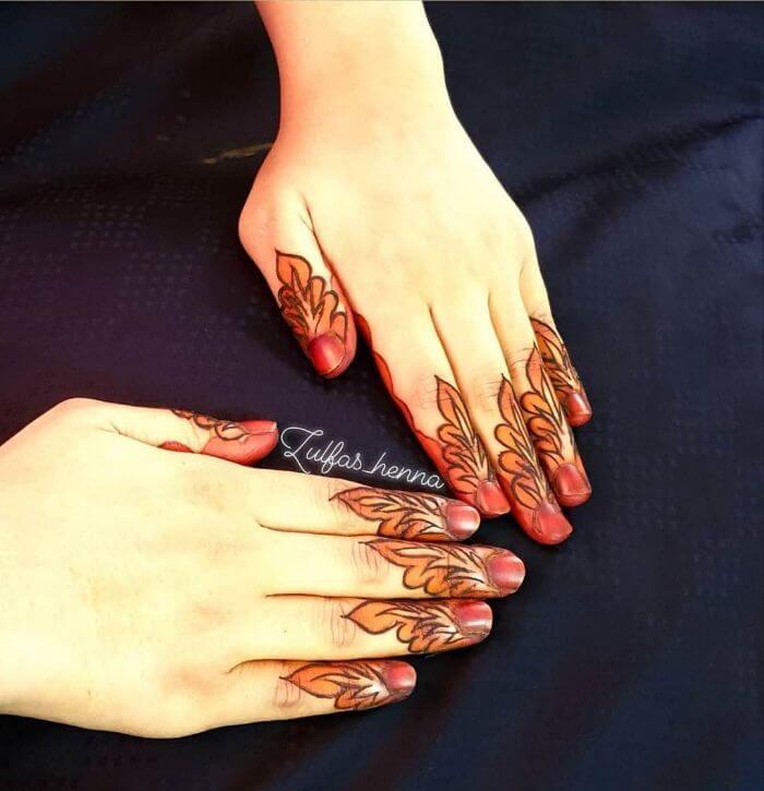 Simple back handstylish mehndi design Beautiful Floral Mehndi Designs for Hands