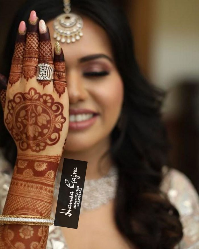 Bridal Mehndi Designs for Full Hands Floral motif simple bridal mehndi design