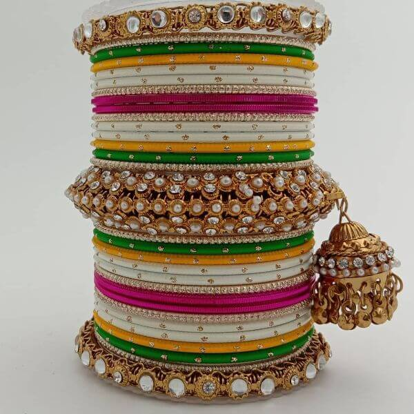 Bright and colourful Bangles for Wedding Trendy Bangle Designs for Indian Brides to Make Your Wedding Memorable