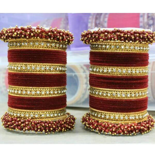 Bright red Indian bangles for the bride Trendy Bangle Designs for Indian Brides to Make Your Wedding Memorable