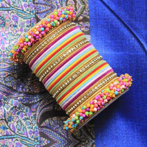 Bright, colorful Indian bangles Trendy Bangle Designs for Indian Brides to Make Your Wedding Memorable