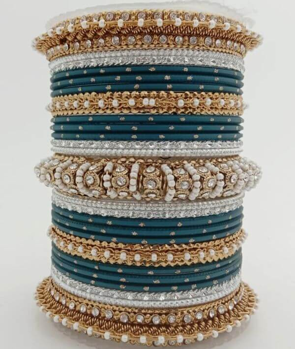 Beautiful gem based bangles Trendy Bangle Designs for Indian Brides to Make Your Wedding Memorable