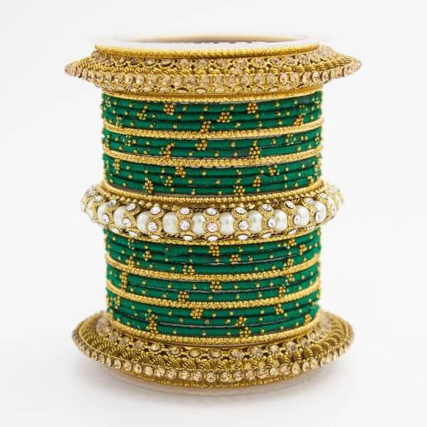 Bright green Indian bangles Trendy Bangle Designs for Indian Brides to Make Your Wedding Memorable