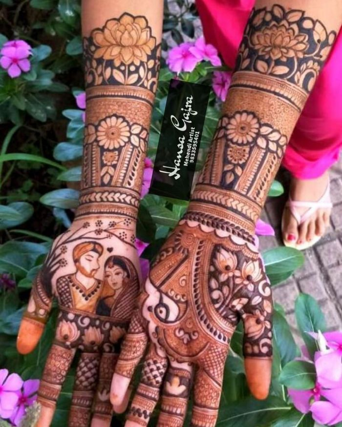 Full hand floral mehndi design for wedding Bridal Mehndi Designs for Full Hands