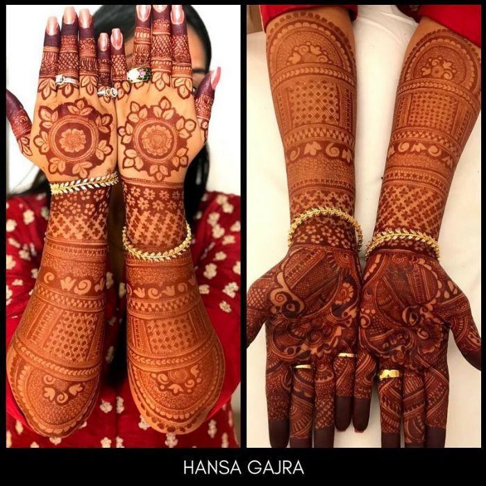full hand mehndi design front and back