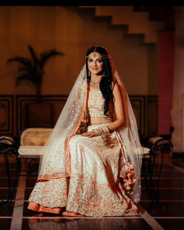 cute and simple lehenga