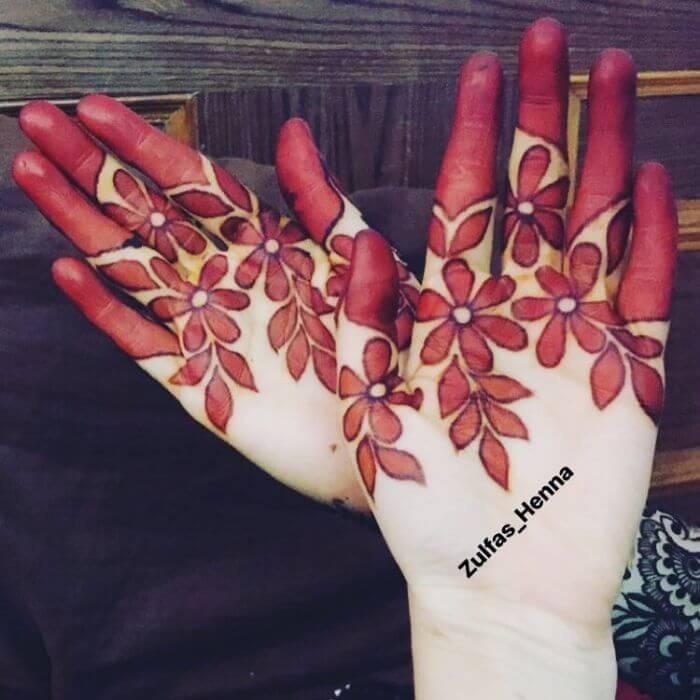 Flowers based mehndi design Beautiful Floral Mehndi Designs for Hands