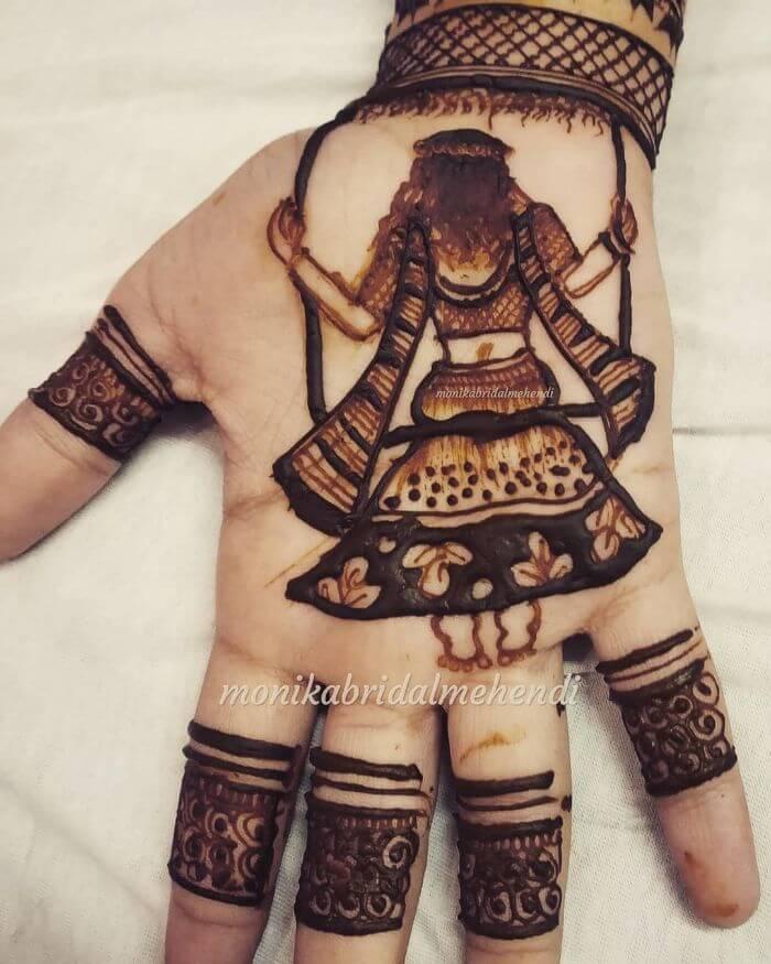 Simple mehndi design for Teej festival - Monika bridal mehendi
