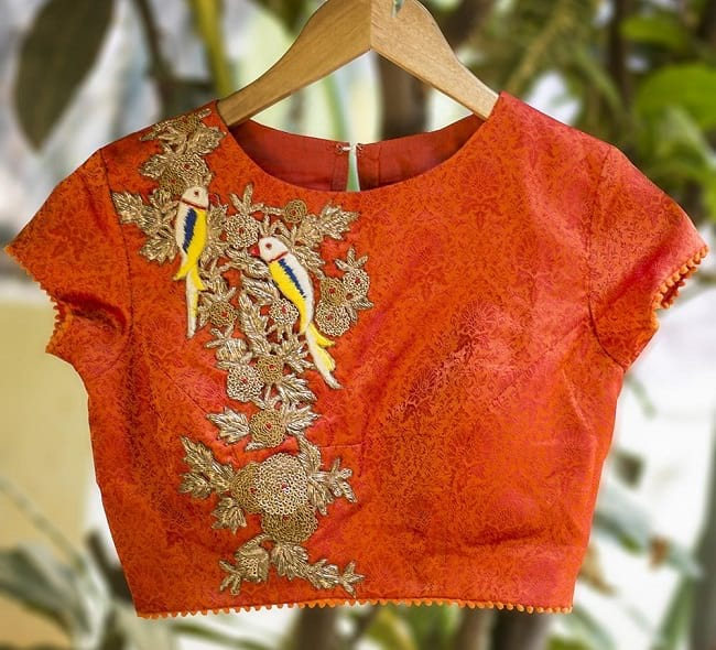 Nature Inspired Blouse Patterns Heavy front embroideredblouse Nature Inspired Blouse Patterns You will Love
