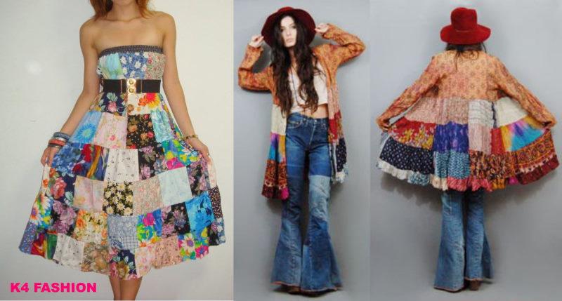 Bohemian patchwork dress ideas