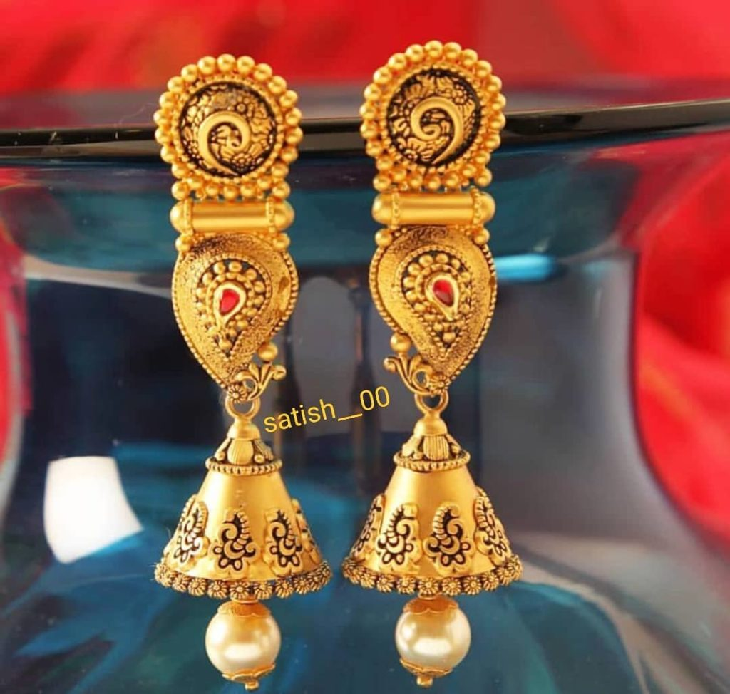 Paisley shaped bridal earrings Gold Wedding Earring Designs You will Fall in Love Instantly
