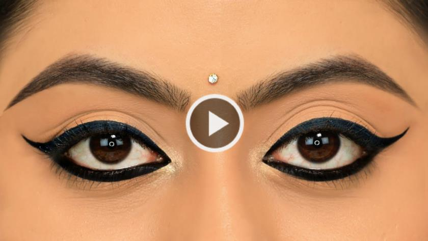 apply winged eyeliner but its little difficult to get equal & even eyeliner on both the eyes
