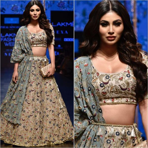 television and film actress MOUNI ROY walks the ramp for Payal Singhal