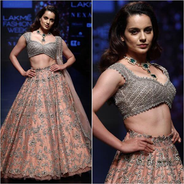 KANGANA RANAUT sizzles the stage of LFW for Anushree Reddy