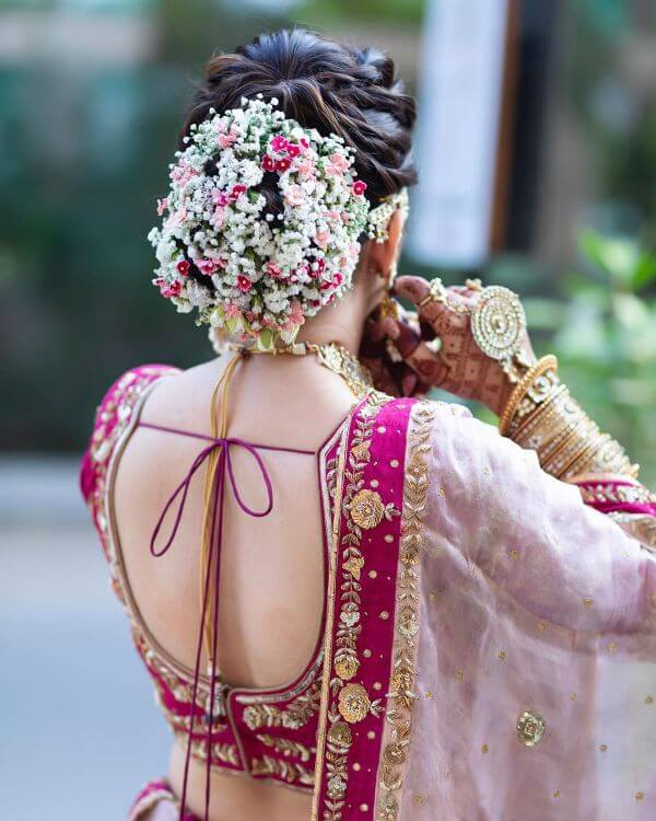 The flamboyant surprise Bridal Bun Hairstyles  Bridal Bun Hairstyles to make your wedding day special