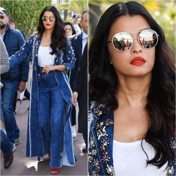 Aishwarya Rai denim jacket and jeans for girls