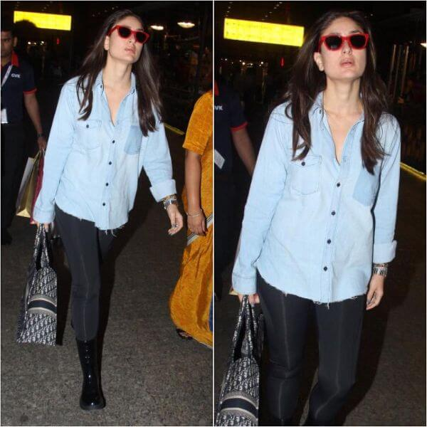 Kareena kapoor was wearing a denim shirt by YSL