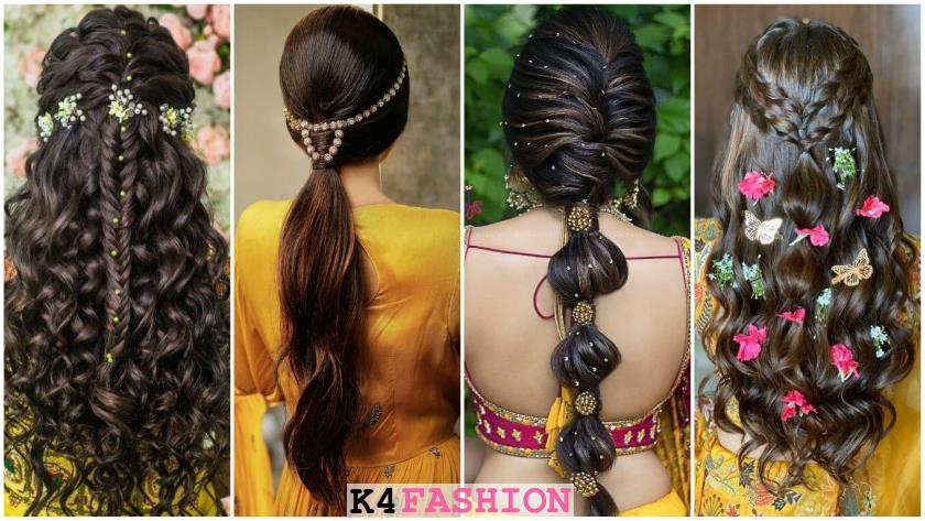 Pre-Wedding Hairstyles for Mehndi Haldi or more functions