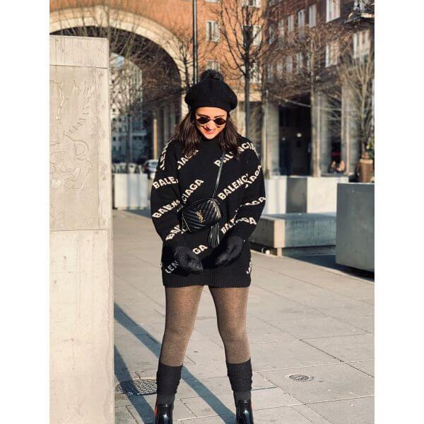 Parineeti Chopra sotted in very expensive Balenciaga logo sweater with black boots and cap