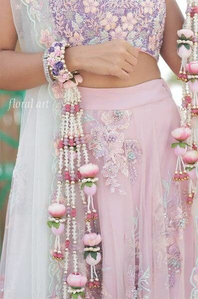 Pink-Purple floral kaleere designs Floral Kaleere Designs Spotted on Real Brides in Wedding