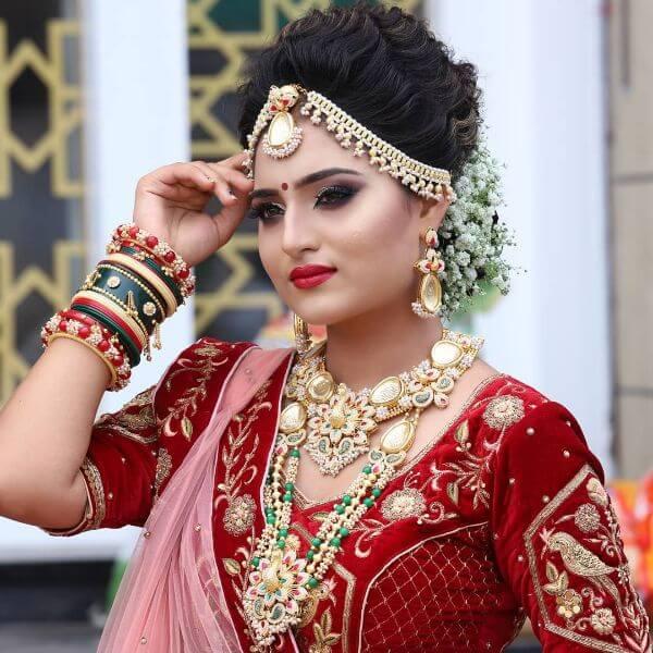 TraditionalIndian Wedding makeup look Indian Wedding Makeup Looks for Brides & Bridesmaids
