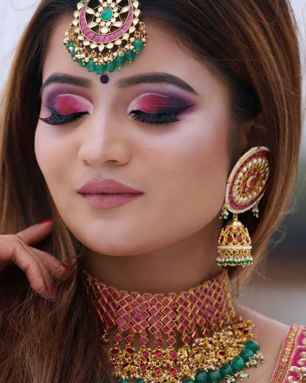 Heavy eye Indian Wedding makeup look
