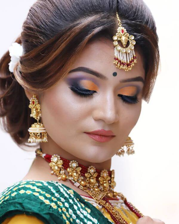 Ombre eyes Indian Wedding makeup look