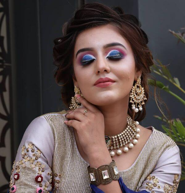 Unique Indian Wedding makeup look