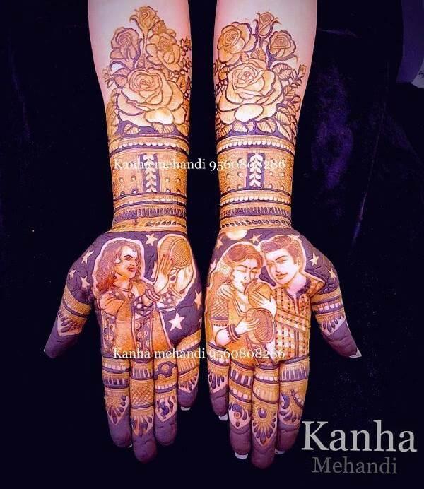 bed of rose full hand mehndi designs for karwa chauth Karwa Chauth Special Full Hand Mehndi Designs