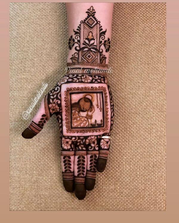 Chaand Chupa Baadal Me full hand Mehandi design for Karwa Chauth Karwa Chauth Special Full Hand Mehndi Designs